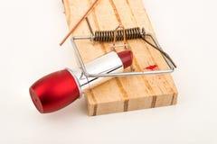 Seduction. The mousetrap of seduction, a conceptual shot Stock Images