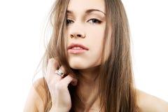 Seductive beautiful brunette. Stock Photos