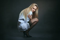 Seductive blond hair woman Royalty Free Stock Images