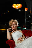 Seductive bride in wedding dress Royalty Free Stock Images