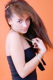 Seductive Brunette Stock Photography