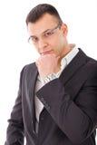 Seductive businessman posing royalty free stock image