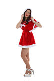 Seductive Christmas outfit Stock Images