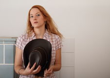 Seductive cowboy girl Royalty Free Stock Image