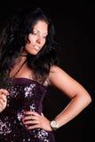 Seductive elegant woman is posing Stock Photos