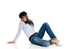 Seductive fashionable woman Royalty Free Stock Images