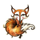 Seductive fox illustration Royalty Free Stock Photo