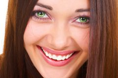 The seductive girl. The girl with green eyes Royalty Free Stock Image
