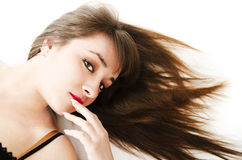 Seductive girl looking you Royalty Free Stock Photo