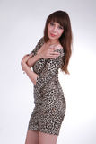 Seductive girl in sexy dress Stock Photo