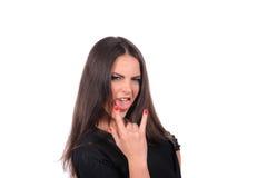 Seductive girl with tongue Stock Photos