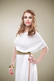 Seductive greece woman tall. Greece woman tall looking at camera Royalty Free Stock Images