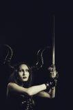 Seductive horned girl Stock Photo