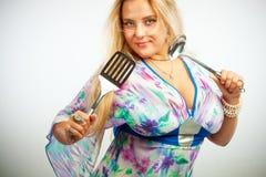 Seductive housewife Stock Image