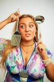 Seductive housewife Royalty Free Stock Photos
