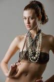 Seductive pearls Stock Photography
