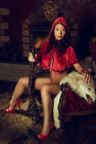 Seductive Red Riding Hood Royalty Free Stock Image