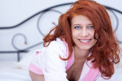 Seductive redhead girl Stock Photos
