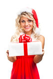 Seductive santa helper Royalty Free Stock Photo