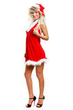 Seductive santa helper Stock Images