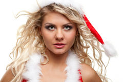 Seductive santa helper Royalty Free Stock Photos
