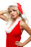 Seductive santa helper Royalty Free Stock Images
