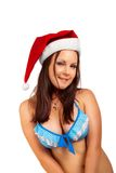 Seductive Santa helper Stock Image