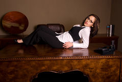 Seductive secretary. Stock Photos
