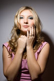 Seductive sensual young blonde Royalty Free Stock Image