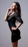 Seductive slender brunette. Royalty Free Stock Images