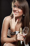 Seductive smile Royalty Free Stock Images