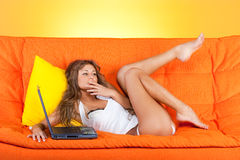 Seductive woman Stock Photos