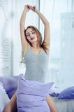 Seductive woman on the bed Royalty Free Stock Photo