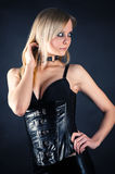 Seductive woman in a corset Royalty Free Stock Image