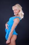Seductive woman is posing Stock Photos