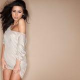 Seductive woman in short minskirt Stock Photo