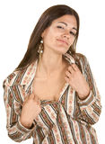 Seductive Woman Showing Neck Stock Image