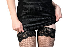 Seductive woman in stockings Royalty Free Stock Photography