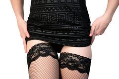 Seductive woman in stockings Stock Photo
