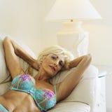 Seductive woman in underwear. Royalty Free Stock Photo