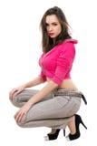 Seductive young lady Stock Photos