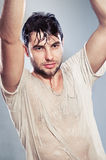 Seductive young man Royalty Free Stock Photography