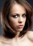 Seductive young woman. Portrait of a young beautiful woman Royalty Free Stock Images