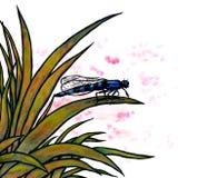 Seduta blu della libellula (Zen Pictures II, 2012) Fotografie Stock Libere da Diritti
