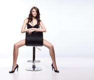 Seduta castana Fotografie Stock Libere da Diritti