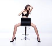 Seduta castana Fotografia Stock
