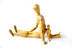 Seduta dei Mannequins Fotografia Stock
