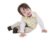 Seduta del bambino Fotografia Stock
