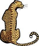 Seduta del ghepardo Fotografie Stock