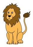 Seduta del leone Immagini Stock Libere da Diritti